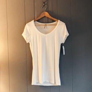 Classic White V-Neck T-shirt
